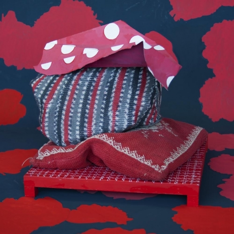 Red Stack with Pillow, Michelle Forsyth, 2020