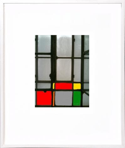 Atelierfenster mit Farben, 2013