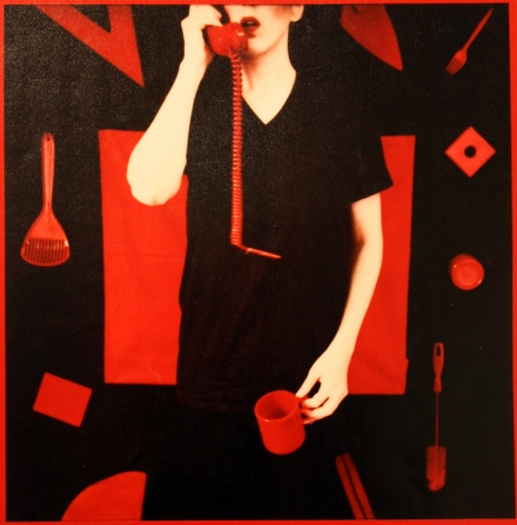 Red Series, Untitled (telephone and coffee mug), Barbara Astman, 1981