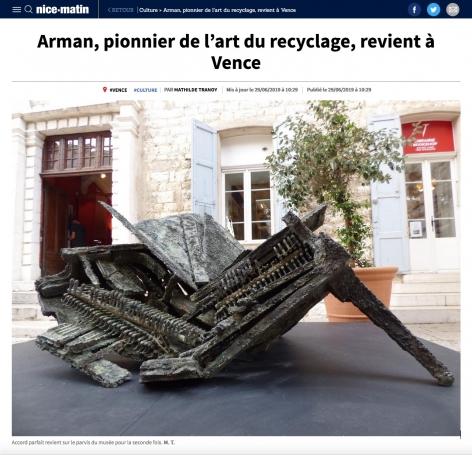 Arman, pionnier de l'art du recyclage, revient à Vence