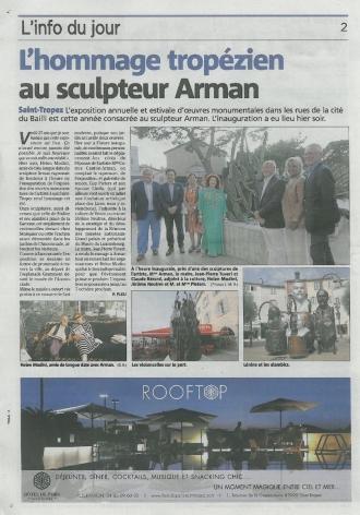 L'hommage tropézien au sculpteur Arman