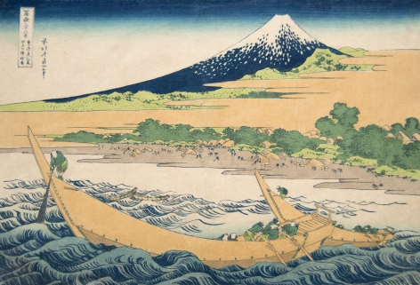 Katsushika Hokusai Shore at Tango near Ejiri on the Tokaido, 1830