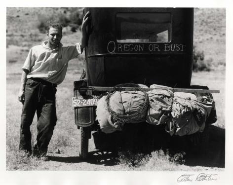 Arthur Rothstein Vernon Evans, Migrant from Oregon to South Dakota, 1936