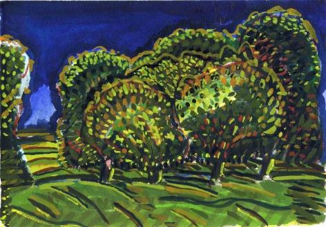 Paul Narkiewicz 1974 watercolor