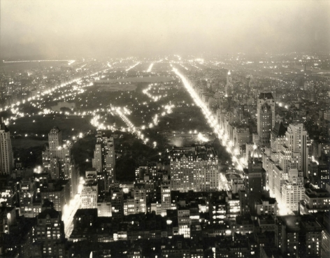 Wendell MacRae Central Park at Night from the RCA Building, 1930