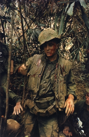 Larry Burrows Wounded GI near DMZ, 1966
