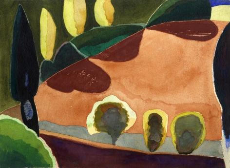 Paul Narkiewicz Italian Landscape 1977 watercolor
