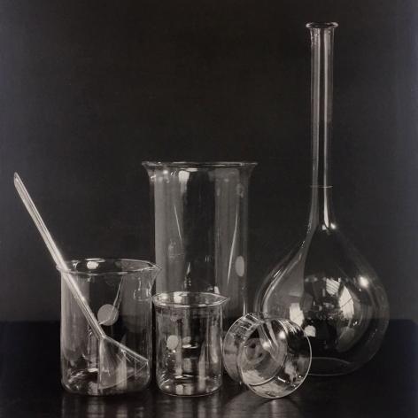 Hiromu Kira, still life of scientific glassware, circa 1930, gelatin silver print