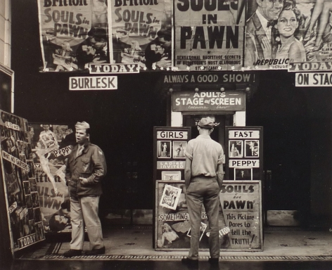 WALKER EVANS (American: 1903 – 1975), The State Street Theatre, Chicago (1946) Vintage gelatin silver print