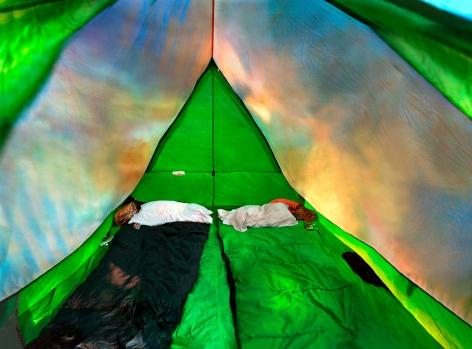 Raissa Venables Tent Spread, 2001