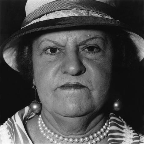 Diane Arbus Woman with a Pearl Necklace and Earings, NYC, 1967
