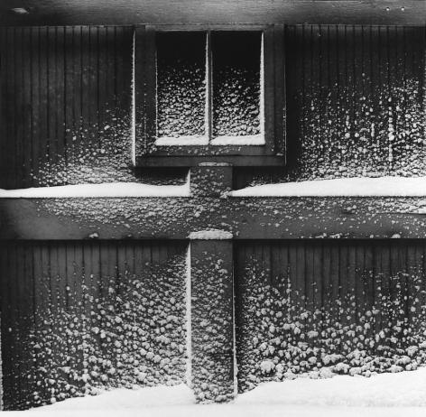 MINOR WHITE (American: 1908 – 1976), Snow on Garage Door, Haags Alley, Rochester, New York.(1960) Vintage gelatin silver print