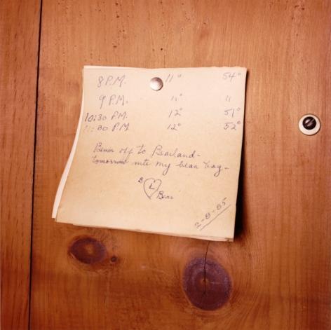 David Graham Note, Placentia Island, ME, 1995-96