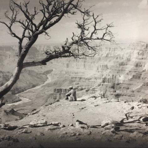 K. Furukawa Overlooking the Grand Canyon, c. 1930's