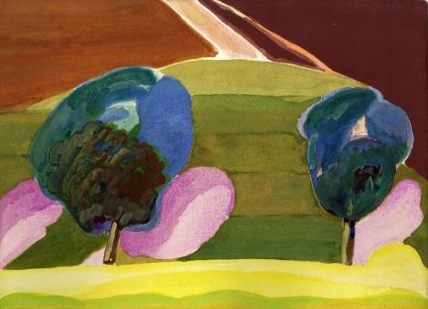 Paul Narkiewicz Italian Landscape 1975 watercolor