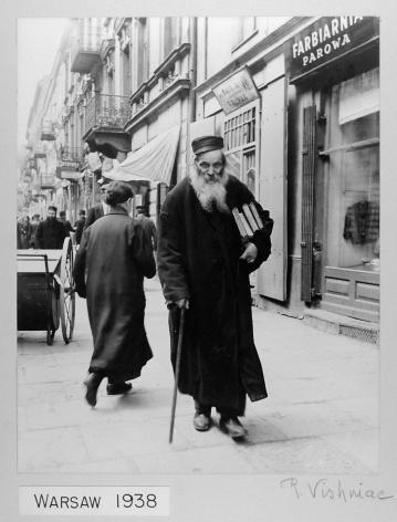 ROMAN VISHNIAC (Russian/American: 1897 - 1990), A Rabbi, Warsaw (Negative: 1938; Print: early 1940s)