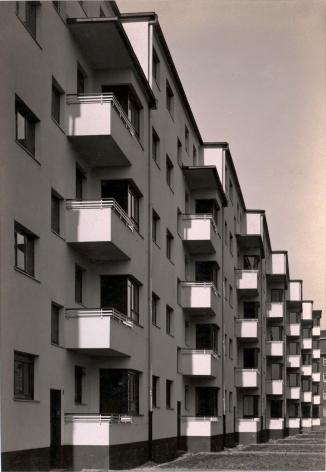 WERNER MANTZ (German: 1901 - 1983), Facade Details, Residential Apartment Block, Kalkerfeld, Cologne (1928) Vintage gelatin silver print