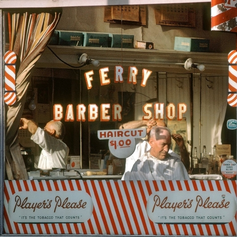 Fred Herzog Ferry Barber Shop