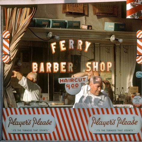 Fred Herzog Ferry Barber Shop