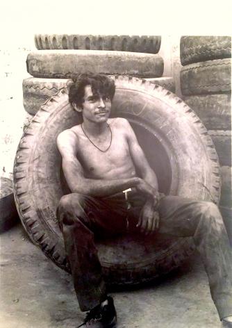 DANNY LYON (American: born 1942), The Boy in the Tire, Tamazunchale, Mexico (1973)