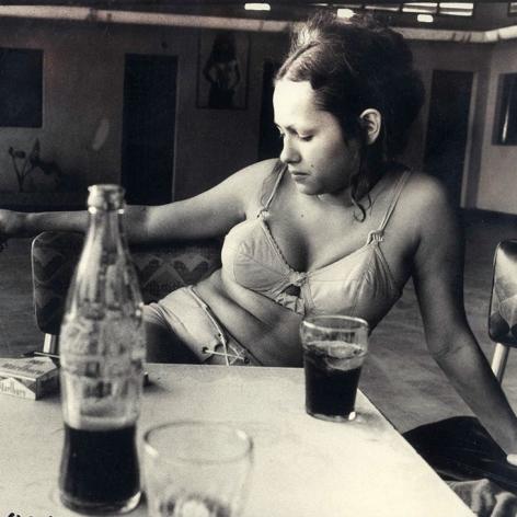Danny Lyon, girl with bottle of Coke, Mary, Santa Marta, Colombia, 1972