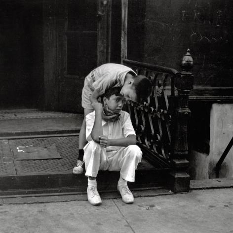 Helen Levitt NYC circa 1945 Two Boys on Stoop