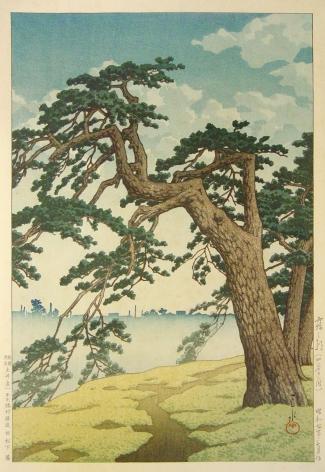 Kawase Hasui Misty Morning at Yotsuya Approach, 1931
