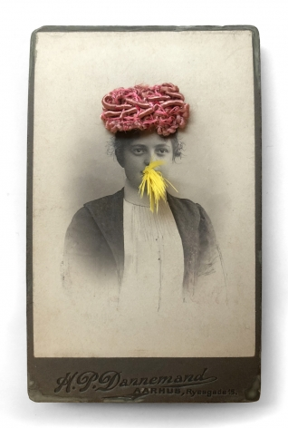 Gary Brotmeyer Young woman in a Pink Hat Eating a Canary Nº3