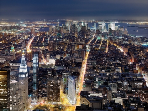 Luca Campigotto NYC, View from the Empire State Buildling looking South