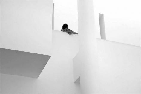 Mikhail Gubin A Bored Guy in the Museu d'Art Contemporani de Barcelona
