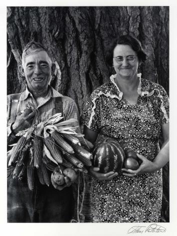 Arthur Rothstein Mr. & Mrs. Andy Bahain, FSA Clients near Kerry Colorado, 1939