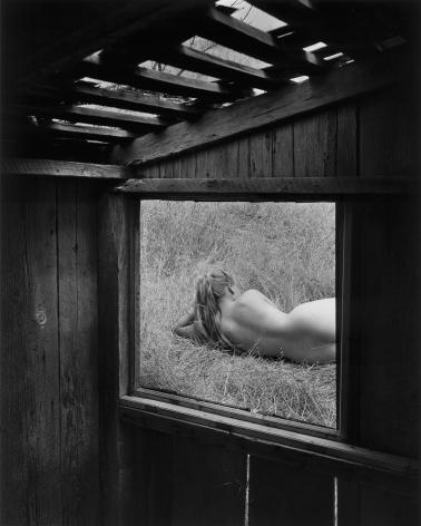 Barbara through Window, 1956 gelatin silver print