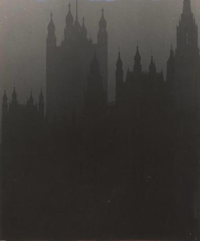 BILL BRANDT (British: 1904 - 1983), Blackout in London: Houses of Parliament (1939) Vintage gelatin silver print