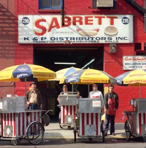 Neal Slavin Sabrett Hot Dog Vendors, NYC, 1974