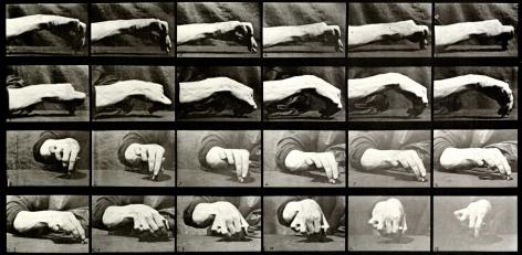 Eadweard Muybridge Hand Drawing a Circle, plate 532