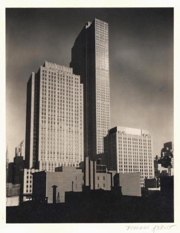 BERENICE ABBOTT (American: 1898 - 1991), Rockefeller Center (RCA, RKA and International Buildings) (1932) Vintage gelatin silver print