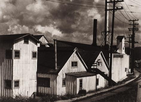 ALMA LAVENSON (American: 1897 – 1989), Cannery Buildings, Monterey, California (1939) Vintage gelatin silver print