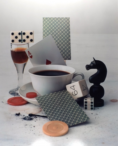 IRVING PENN (American: 1917 – 2009), After Dinner Games.(Negative: 1947; Print: 1985) Color photograph: dye-transfer process 22-1/4 x 18 inches (image size)