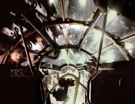 Neal Slavin Aircraft Restoration Technicians inside the Enola Gay, Suitland, MD, 1987