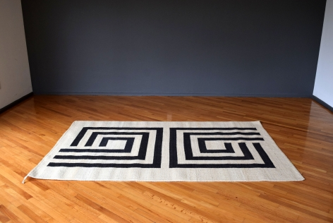 "Black ""Agave Collection"" Rug / Trine Ellitsgaard"
