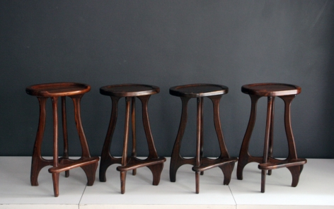 Set of 4 Stools / Don Shoemaker