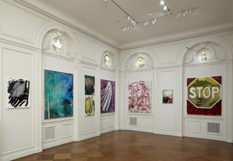 Installation view of White Collar Crimes: Presented by Vito Schnabel at Acquavella Galleries from February 20 - March 26, 2013.
