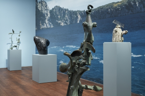 """Installation view of """"Miró the Sculptor: Elements of Nature""""   Photo by Kent Pell. Art © 2020 Successió Miró / Artists Rights Society (ARS), New York / ADAGP, Paris."""