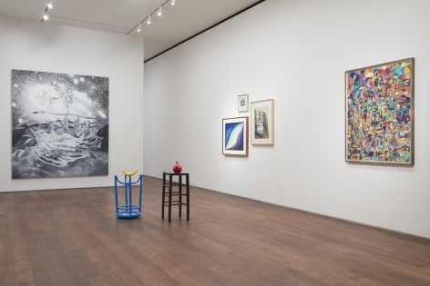 Left to Right, James Rosenquist,The Bird of Paradise Approaches the Hot Water Planet (Grisaille),1989,© Estate of James Rosenquist / Licensed by VAGA at ARS, New York