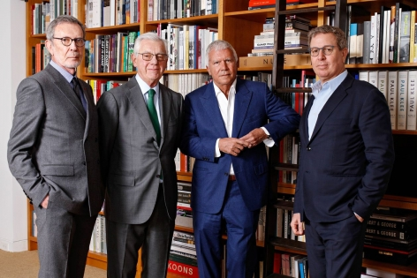 Photograph of From left to right, Arne Glimcher, Bill Acquavella, Larry Gagosian, and Marc Glimcher