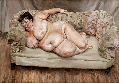 Lucian Freud, Benefits Supervisor Sleeping,1995