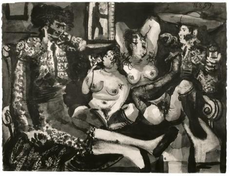 Pablo Picasso, Courtisanes et Toreros, August 16-17, 1959
