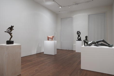 Installation view of Three Dimensions: Modern & Contemporary Approaches to Relief and Sculpture at Acquavella Galleries Exhibition Extended through December 15, 2017.