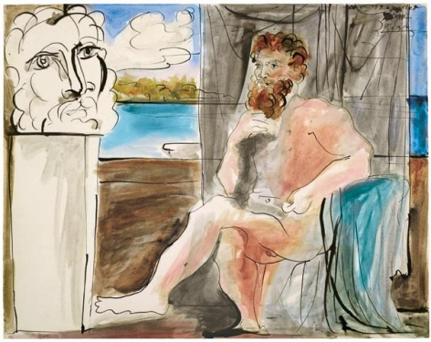 Pablo Picasso, Homme assis, 1933