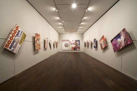 Installation view of James Rosenquist: The Hole in the Middle of Time and The Hole in the Wallpaper at Acquavella Galleries from February 17 - March 18, 2010.